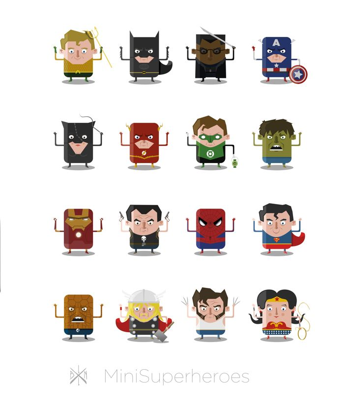 De Duitse illustrator Ballooon is bezig met een indrukwekkend portfolio. Ditmaal aandacht voor een toffe serie mini superheroes in de maak: www.obeymagazine.nl/graphic-design/illustraties/mini-superheroes