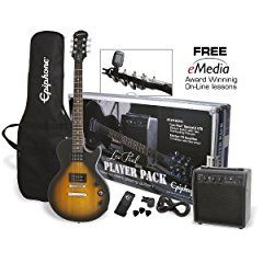 This pack has everything the new electric guitar player needs.  If you want to learn electric guitar this Epiphone Les Paul Special II Electric Guitar Player Pack - Vintage Sunburst gives you a very stylish electric guitar with two classic humbucker picku