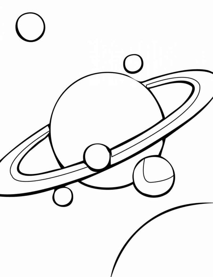 Saturn Coloring Page. in 2020 | Planet coloring pages ...