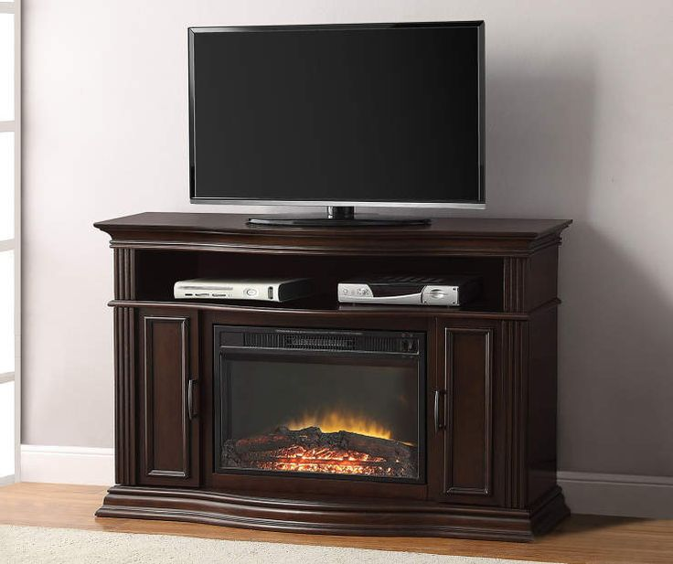 """48"""" Cherry Console Electric Fireplace at Big Lots."""