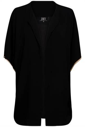 ZOEY jakke sort uden ærme | festtøj | Tøj til kvinder med kurver