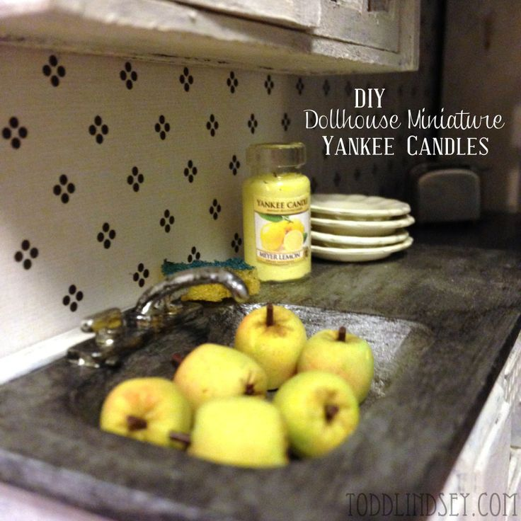 DIY DOLLHOUSE MINIATURE YANKEE CANDLES