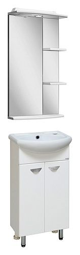 МЕБЕЛЬ RUNO АЗОВ 40  Мебель Runo Азов 40 http://www.vivon.ru/furniture/mebel/mebel-dlya-vannoy-azov-40/ для миниатюрных ванных комнат  Мебель для ванной Runo Азов 40 выполнена в классическом стиле, включает зеркало с влагостойким покрытием, тумбу с небольшой раковиной.  Приобретайте #мебель_для_ванной #Runo Азов 40 в интернет-магазине сантехники ВИВОН