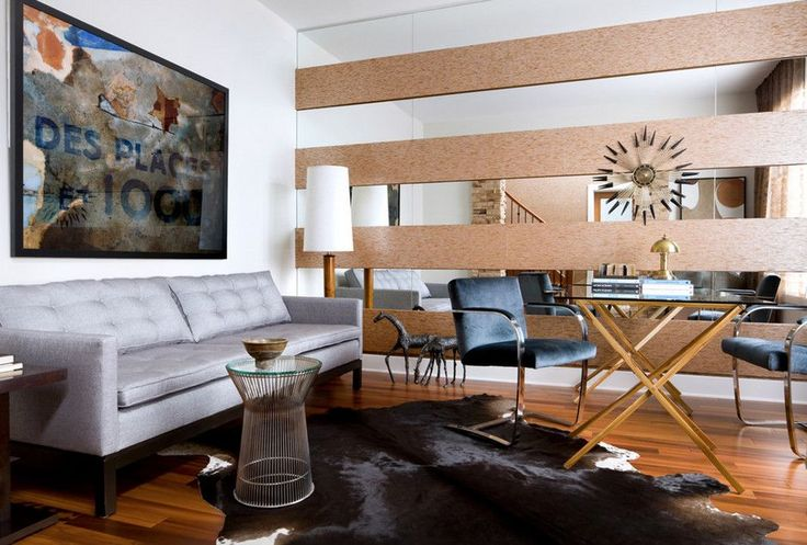 60 идей зеркальной стены в интерьере: расширяем пространство красиво http://happymodern.ru/zerkalnaya-stena/ Гармоничное сочетание зеркальных и деревянных панелей