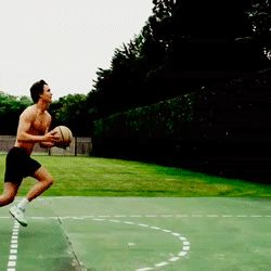 Ansel Elgort, Soon-To-Be 'Fault In Our Stars' Mega-Star- Showing his Augustus Waters Basketball Skills!