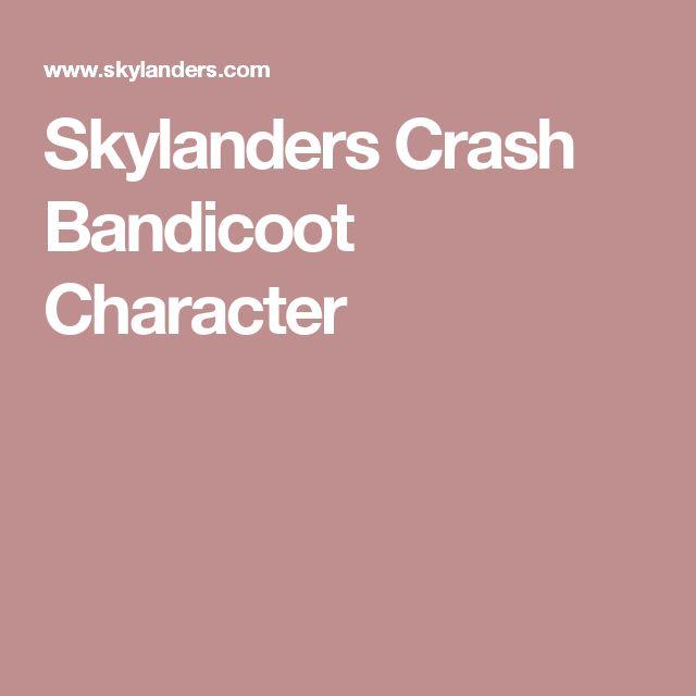 Skylanders Crash Bandicoot Character