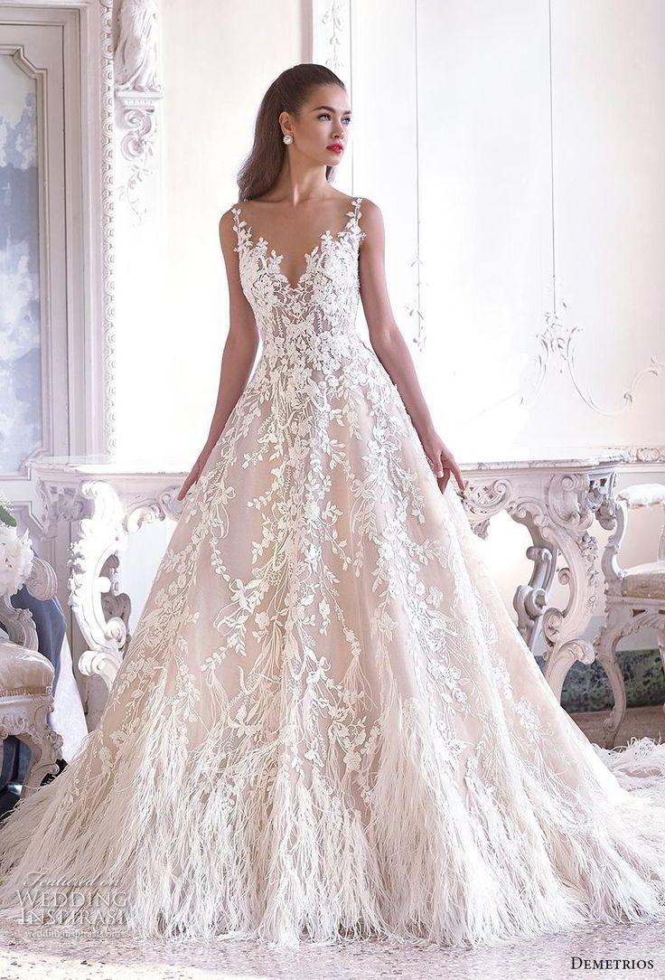 b285b4f5c40f Platinum by Demetrios 2019 Wedding Dresses in 2019