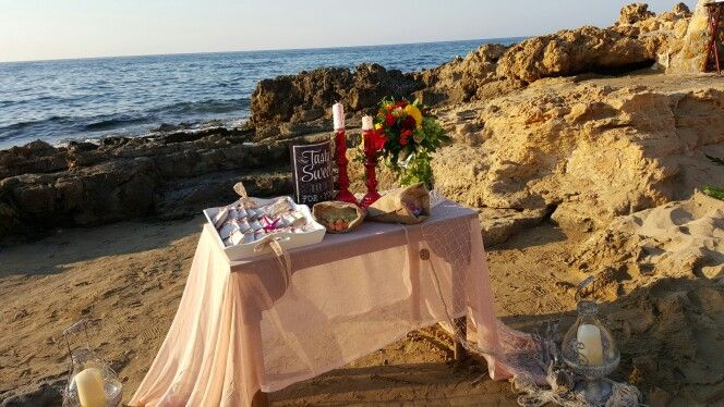 Sweets table on the beach