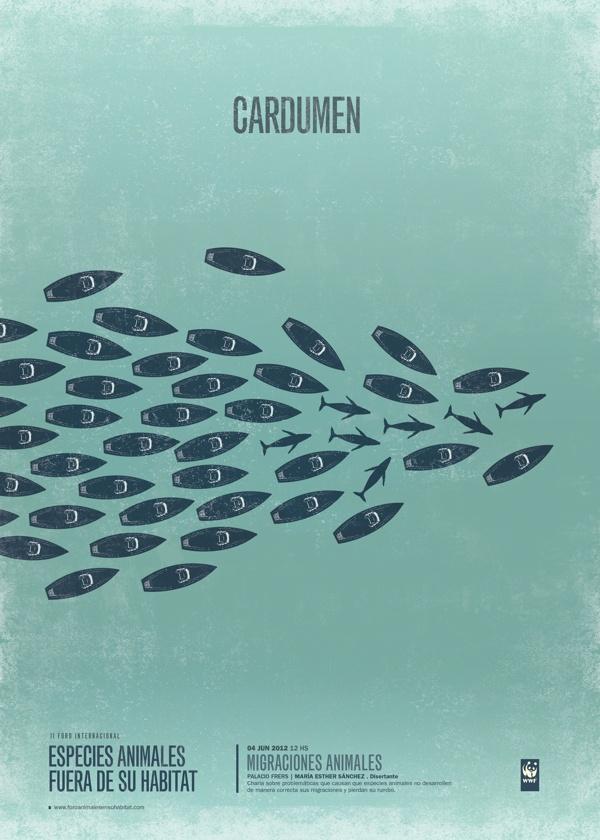 Especies fuera de su hábitat - Sistema de afiches by Aixa Aztarbe