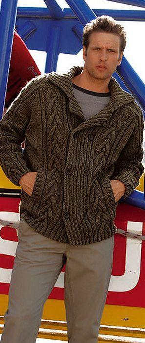 Мужская куртка. | Вязание для мужчин | Постила