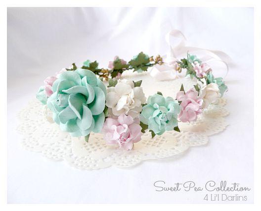 Peppermint Bloom Flower Crown-floral halo, flower crown, floral crown