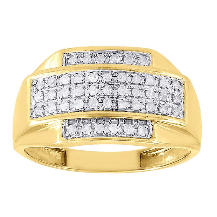 1.00 CARAT MENS WHITE GOLD FINISH LAB DIAMOND ENGAGEMENT WEDDING PINKY RING #aonejewels #Band