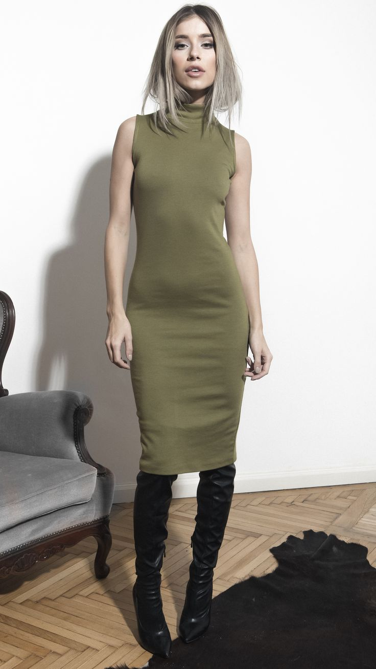 Basic Army Dress! http://www.noire.ro/product/basic-army-dress/