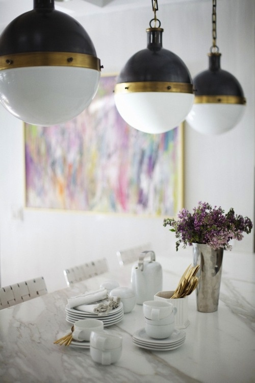 Gold Pendant Light Island