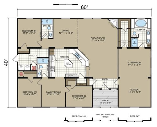 Floor Plans - Manufactured and Modular Homes in Texas | Champion