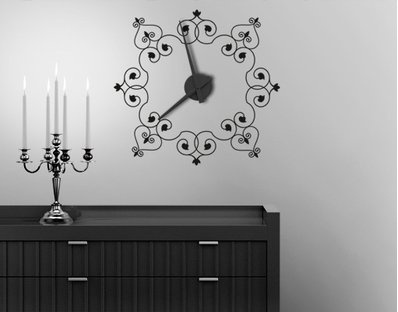 Wall Decal Clock Cast-Iron