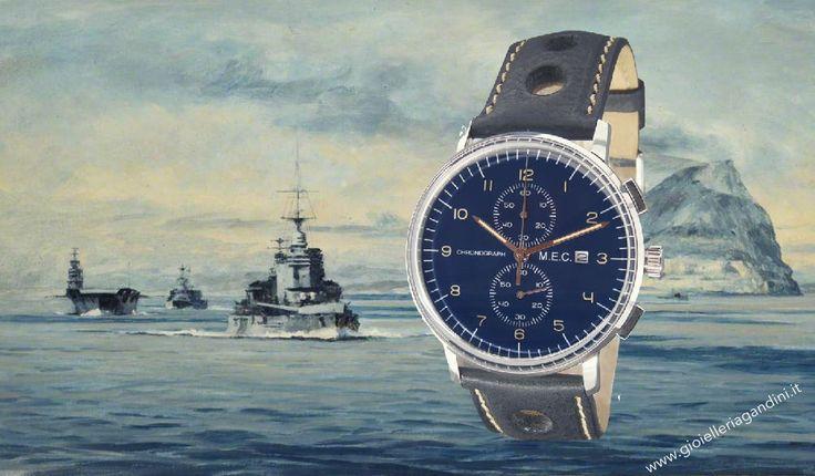 Il nuovo cronografo M.E.C. dedicato alla Regia Marina. Gusto vintage con finiture di alto pregio. Lo puoi trovare in negozio o sul sito