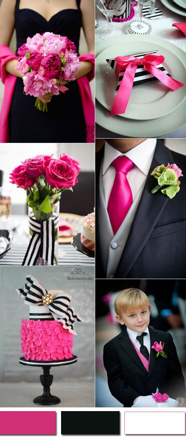 Modern Elegant Pink And Black Wedding Ideas For 2017
