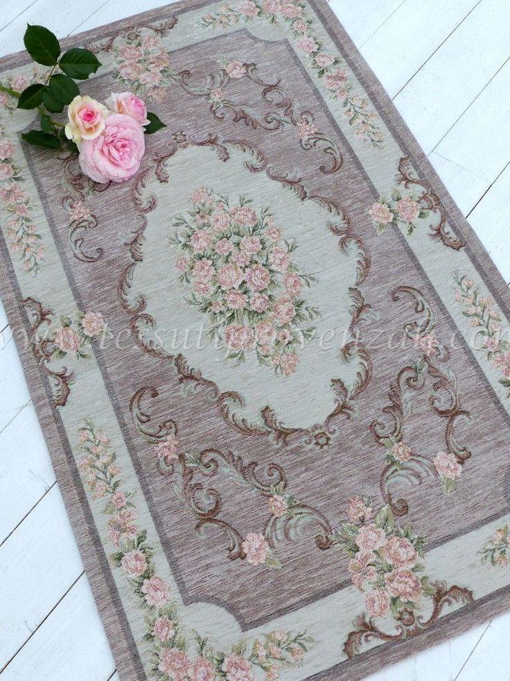 """Tappeto rosa antico serie """"Doria"""" Blanc Mariclò - misura 65 x 110 -"""
