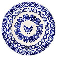Buy Emma Bridgewater Hen and Border Plate, Blue Online at johnlewis.com