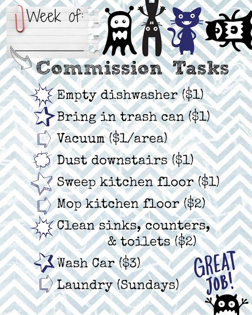 10 best Chore Chart images on Pinterest Chore charts, Kid chores - chore chart