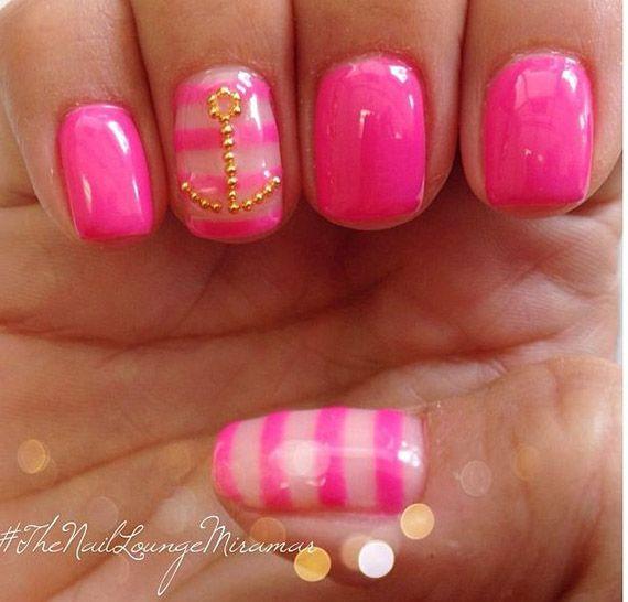 50 Ideas para pintar uñas de color rosa   Decoración de Uñas - Manicura y Nail Art