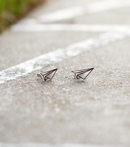 Origami Plane Earrings -Designed by Tonia Mo-