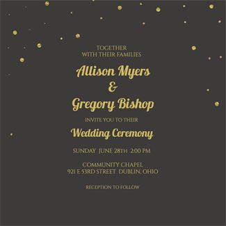 Wedding Fonts printable invitation template. Customize, add text and photos.  Print, download, send online or order printed!