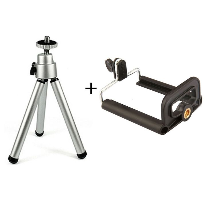 New Tripod + Clip Stand Bracket Holder Mount Adapter For Gopro Camera Digital Camera Self-Timer Smartphones For iPhone Samsung