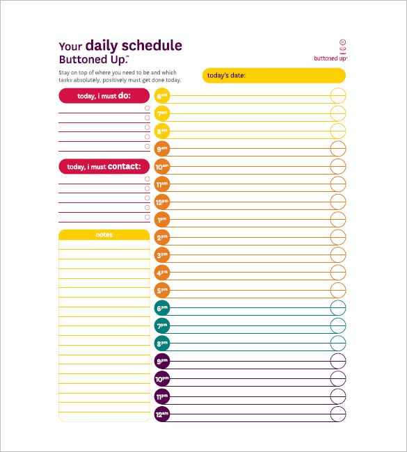 10 Task List Templates Free Printable Word Excel Pdf Formats