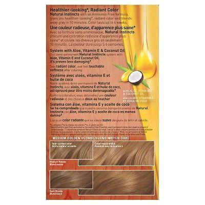 Clairol Natural Instincts Non-Permanent Hair Color - 8G/4 Sunflower Medium Golden Blonde - 1 Kit, Medium Golden Blonde-04