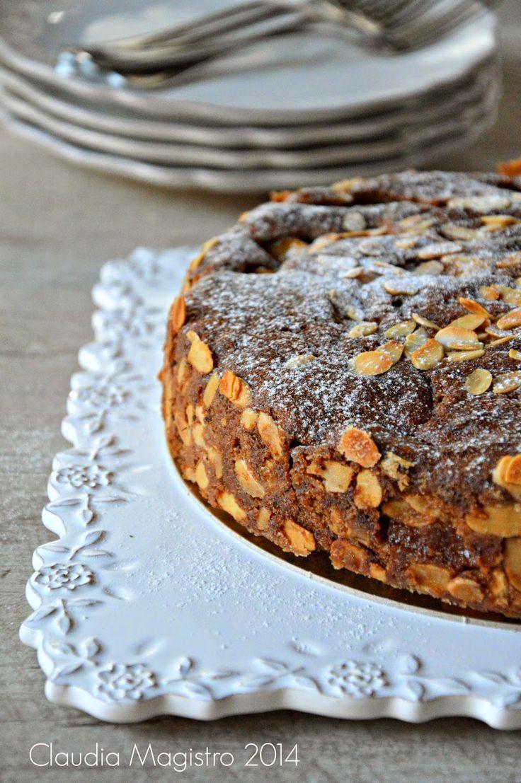 Torta rustica con grano saraceno mele e arancia