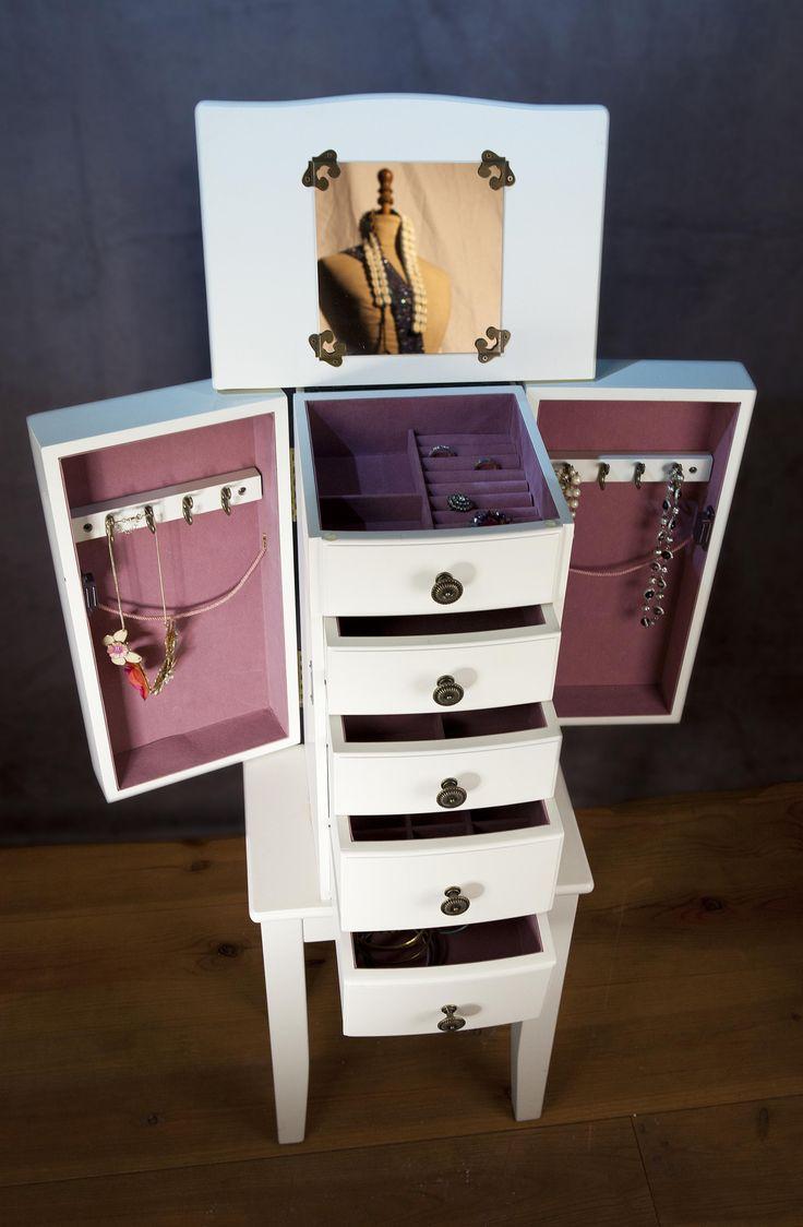 Meer dan 1000 idee u00ebn over Juwelenkast op Pinterest   Sieraden Kast, Kasten en Kasten