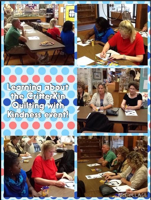 Here are the adults working on their CritterKin Kindness pieces.