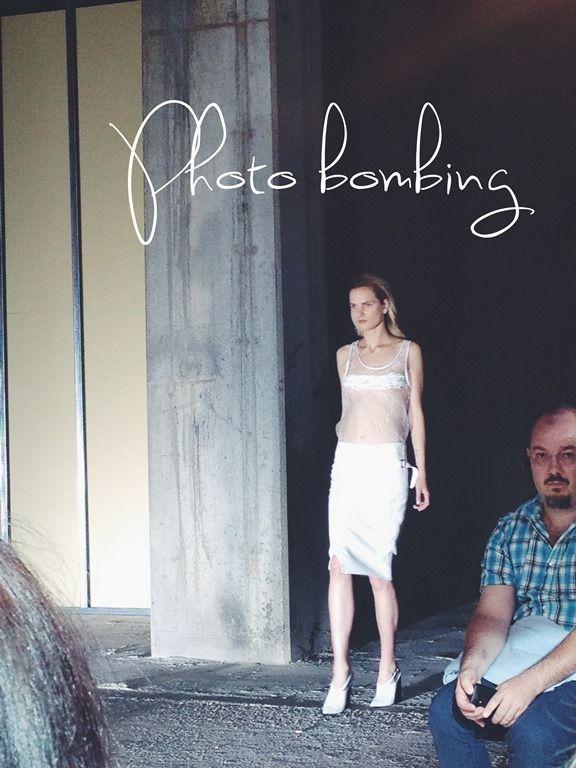 Photobombin at Costume National