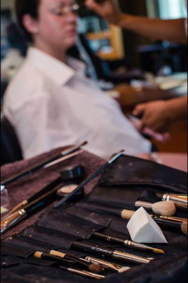 Makeup time for bride #MACmakeup #MACwedding
