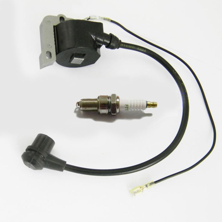 Ignition Coil Spark Plug for Husqvarna 50 55 254 257 261 262 266 268 272 272XP Chainsaw Rep 503 90 14-01, 544018401