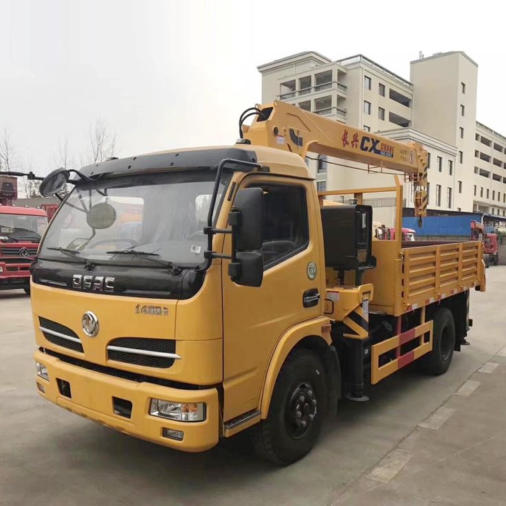 Dongfeng 4x2 Diesel 130hp 3 Ton Mini Truck Mounted Crane