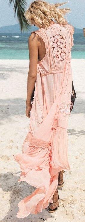 #summer #spellandthegypsycollective #outfits | Lovely Coral Maxi Beach Duster