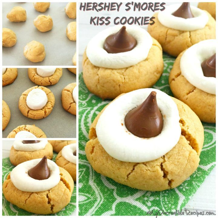 Peanut Butter S'mores Thumbprint Cookies!