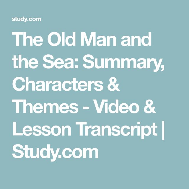 the old man and the sea themes
