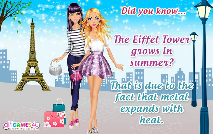#Fun fact for #fabulous mademoiselles! ***  #Game's link: http://www.girlgames4u.com/search.html?q=paris&domain=girlgames4u.com ✿ ✿ ✿
