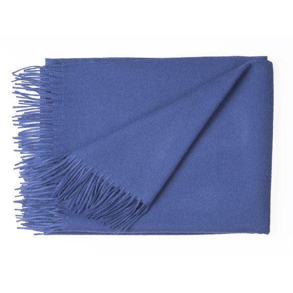 100% Pure Baby Alpaca Solid Color Cozy Throw Blanket, No Synthetics or Chemical Dyes