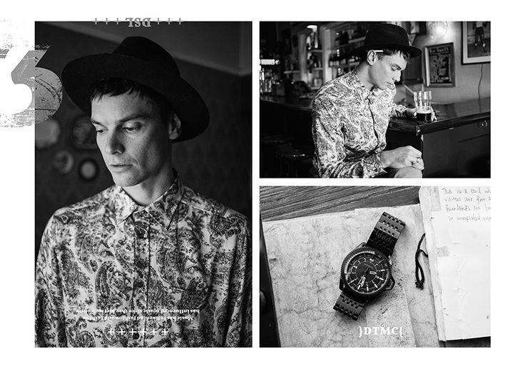 Diesel Musically Inclined // Donny Truter. Men's fashion for fashion editorial for AFF.  Paisley Shirt R1999   /   Overflow Chronograph Watch R4399    All fashion available by Diesel V&A Waterfront, Cape Town +27 21 425 5779 Sandton, Johannesburg +27 11 783 0882