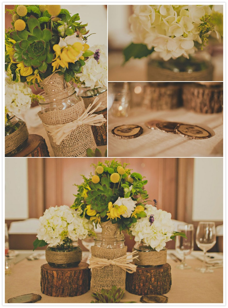 center piece? Rustic Poets Cove Wedding | jennifer armstrong photography