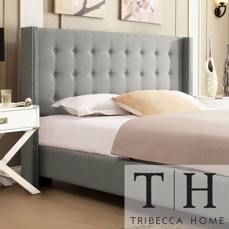 Inspired by Queen Anne style this modern wingback headboard creates a unique look A tufted