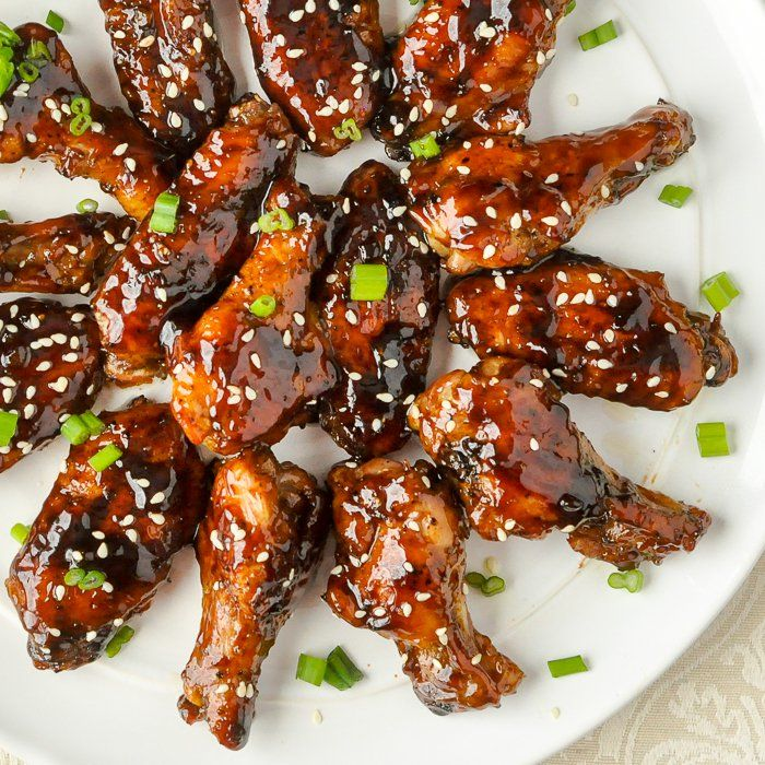 Glazed Teriyaki Chicken Wings - these sticky glazed wings are packed with flavour but are completely oven baked & never fried. Perfect game day party food