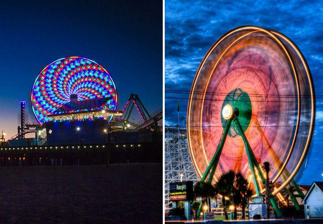 Fotos extraordinárias de rodas-gigantes tiradas em longa exposição