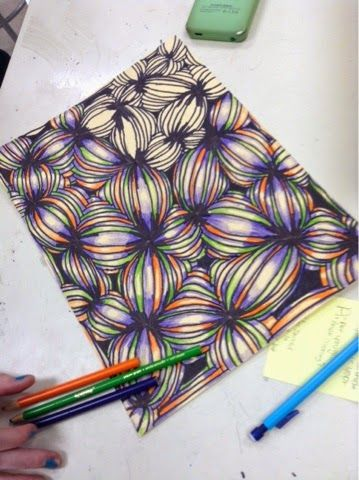 Op art Lesson! Art at Becker Middle School