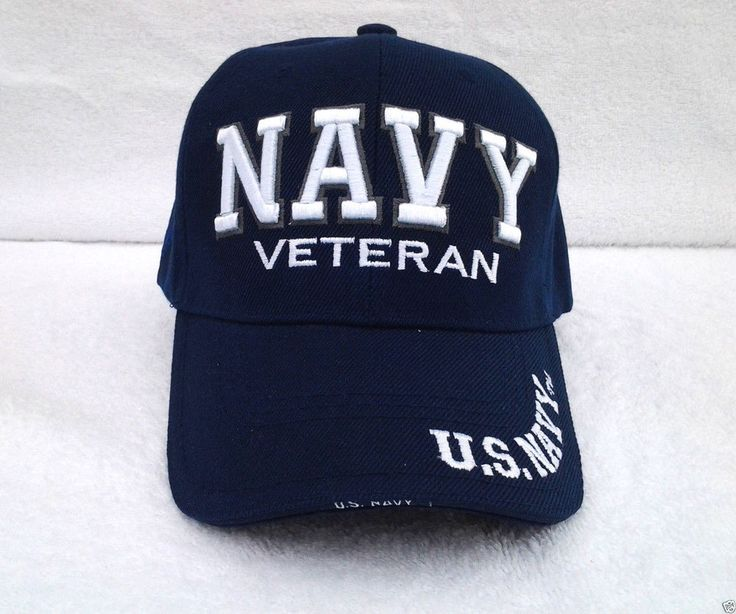 NAVY VETERAN (BLUE) US NAVY Military Veteran Hat 359 KN MT #BaseballCap